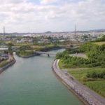 沖縄県うるま市 天願川河口付近 空撮